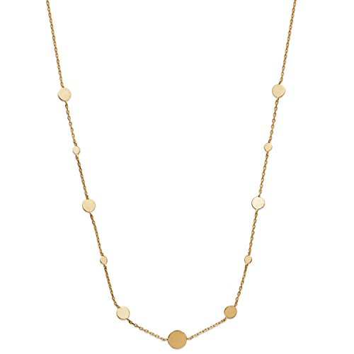Collana a catena in Placcato oro–catena e piccoli Circolo–37cm