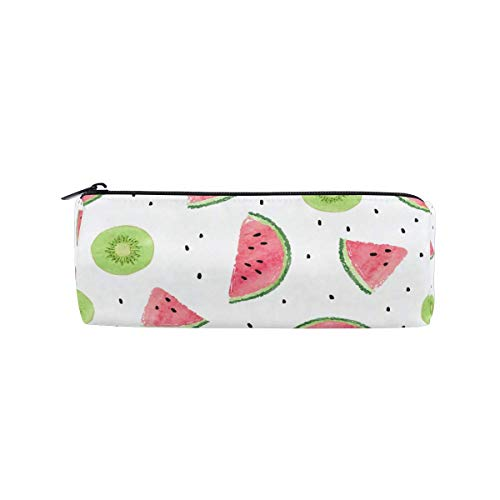Bolsa para lápices Kiwifruit sandía lunares, estuche para lápices, con cremallera, bolsa para maquillaje, bolsa de maquillaje, bolsa de trabajo, oficina