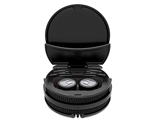 Motorola Lifestyle Earphones Tech 3 en 1 - Auriculares inalámbricos para Deporte, 18 Horas de Juego, IPX5, Color Negro