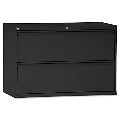 Alera 2-Drawer Lateral File Cabinet, 42 x 19-1/4 x 28-3/8-Inch, Black