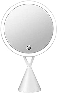 Makeup Mirror with Lights Base Vanity Mirrors Touch Screen UCB Facial Skin Care Products for Tabletop Wife Girlfriend Kids Birthday Gifts OO (Color : Pink) (Color : White)