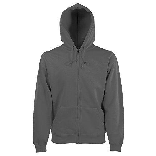 Fruit of the Loom Herren Sweatjacke Classic Hooded 62-062-0 Light Graphite M