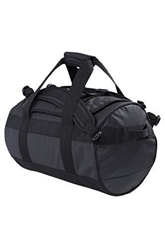 Mountain Warehouse Sac Cargo - 40 litres - Sac de Voyage résistant, Sangles, Deux poignées, poignée capitonnée et à Scratch - Voyage, Camping, randonnée Noir Taille Unique