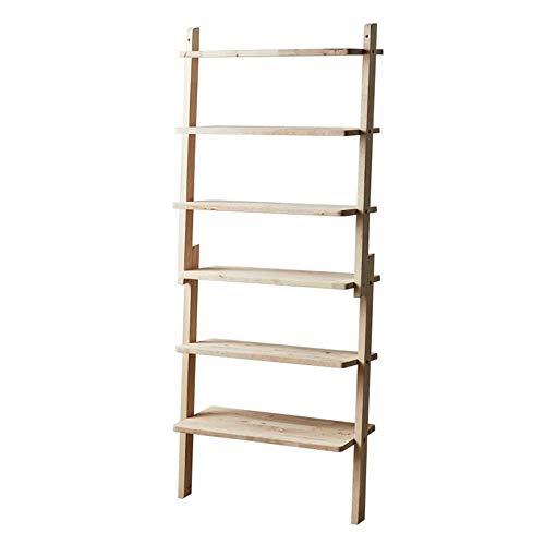 JCNFA planken massief hout leunend tegen muur schoen/bloem/boekenrek, DIY montage, gesegmenteerd ontwerp, poster standaard, stapelbare planken