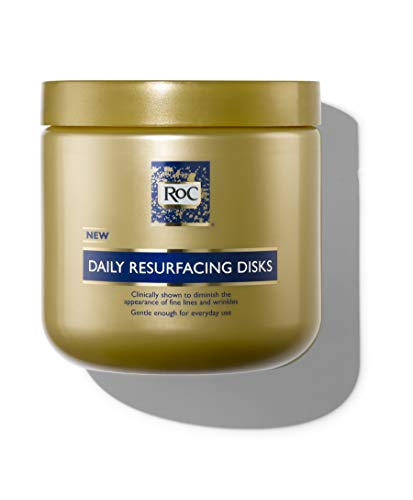 RoC Daily Resurfacing Facial Disks, Exfoliating Makeup Removing Pads with Skin-Conditioning...