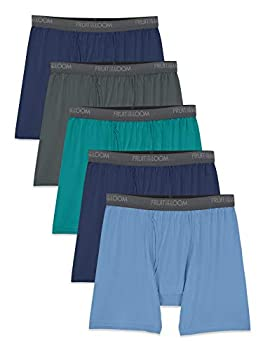 Fruit of the Loom Men s Micro-Stretch Boxer Briefs assorted Large