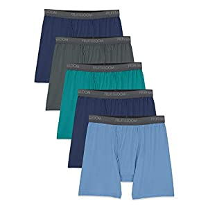 Fruit of the Loom Men's Micro-Stretch Boxer Briefs, assorted, X-Large