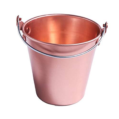 ZLSP Cubo de Hielo de Acero Inoxidable, Barril de bocadillos Barra de Barril de Barril KTV Mini Cubo de Hielo Cooler para Champagne Vino o Cerveza (Color: Azul) (Color : Pink)