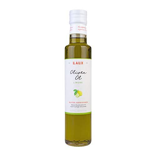 LAUX® Olivenöl mit Limone aromatisiert - Feinkost Öl - Perfekt Für Salatdressing, als Gemüse Topping, oder zum Kochen – Hochwertige Zutaten – 0,25 L
