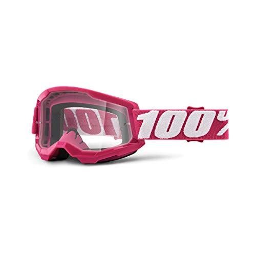 Desconocido 100% STRATA 2 Goggle Fletcher-Clear Lens Gafas de Sol, Adultos Unisex, Rosa (Rosa), Talla Única