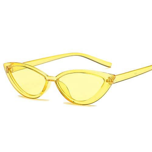 Sunglasses Gafas de Sol de Moda Gafas De Sol con Montura Transparente Estilo Ojo De Gato, Accesorios Rojos De Verano Par