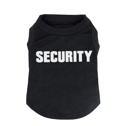 BINGPET Security Dog Shirt Summer Clothes for Pet Puppy Tee Shirts Dogs Costumes Cat Tank Top Vest-Large