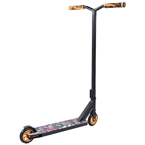 DAUERHAFT Scooter para Adultos de aleación de Aluminio, Patinete de tranvía Profesional, Sistema de Seguridad HIC, Patinete Deportivo Plegable, para Adultos, Trabajo