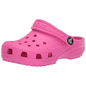 Crocs Kids' Classic Clog   Slip On Shoes for Boys and Girls   Water Shoes, Electric Pink, 7 US Toddler
