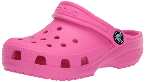 Crocs Kids' Crocband Clog | Slip On Shoes for Boys and Girls | Water Shoes, Electric Pink, 9 US Toddler