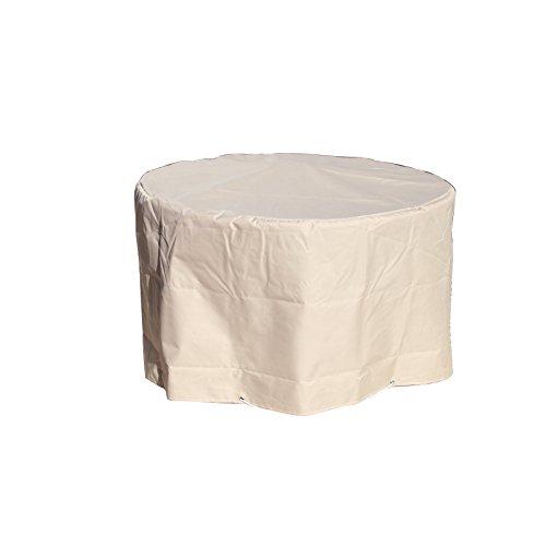 GREEN CLUB Housse de Protection pour Table de Jardin Ronde Haute qualité Polyester D 120 x h 70 cm Couleur Beige