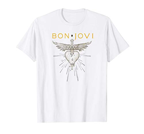 Bon Jovi Greatest Hits T-Shirt for Adult and Child, White