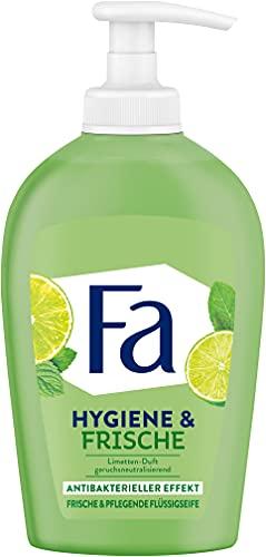 Fa Hygiene & Frische Flüssigseife mit dem erfrischenden Duft von Limette, Antibakterieller Effekt, 250 ml