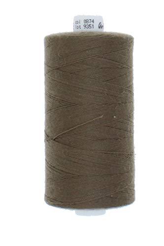 zipworld Polyester - Nähgarn 1000 Meter/Rollen in 4 Stärken erhältlich (32-schlamm-874, Stärke 50 - Jeans & Ledergarn)