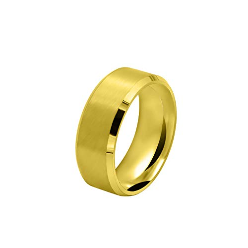 Valentines Day Finger Ring, Inlaid Square Zirconia Gold Knuckle Rings Ladies Jewelry Gift for Holiday Valentine's Day Party Birthday Anniversary Promise Gifts for Girls Friends Women Wife (Men, 12)