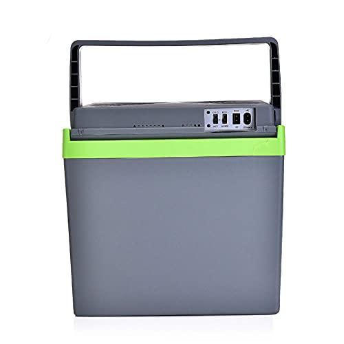 FIONAT Refrigerador de coche de 25 L, congelador, 220 V, 12 v, Mini nevera para coche, nevera pequeña, dormitorio, caja fría, caja de temperatura 37,5 * 28,5 * 37,5 cm