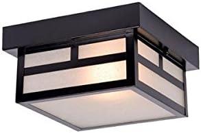 high quality Acclaim 4708BK Artisan sale Collection wholesale 1-Light Ceiling Mount Outdoor Light Fixture, Matte Black sale