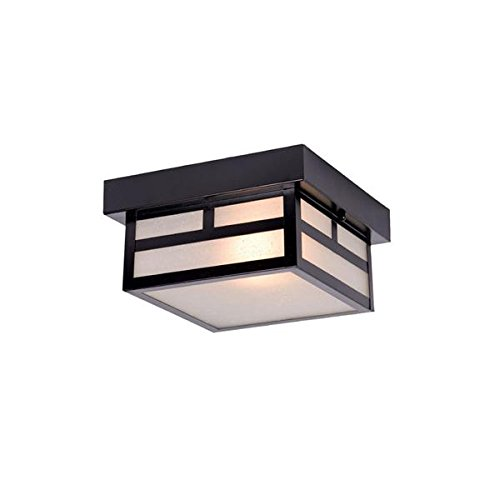 Acclaim 4708BK Artisan Collection 1-Light Ceiling Mount Outdoor Light Fixture, Matte Black