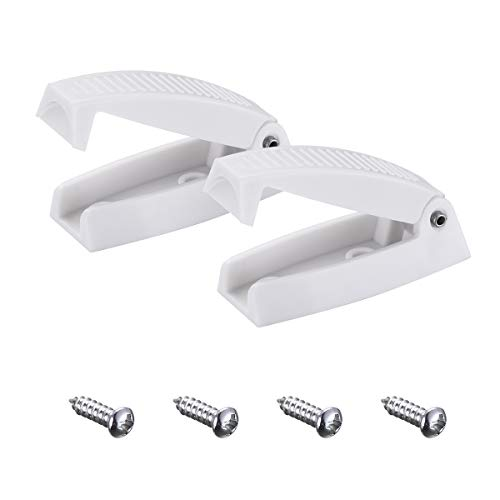 Miady RV Baggage Door Catch -Holds RV Baggage Compartments and Doors Open, Durable Material and Simple Installation- White
