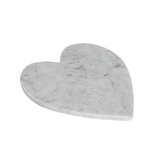 Argon Tableware Plateau en marbre - en Forme de cœur - pour Servir des Repas - 230 x 270 mm - Blanc