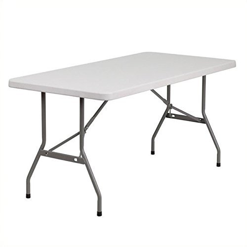 Flash Furniture 5-Foot Granite White Plastic Folding Table , 30' x 60' - RB-3060-GG