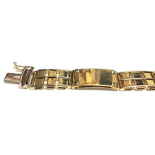 Pulsera Rolex para hombre de oro amarillo y blanco de 14 quilates, 8.5 pulgadas