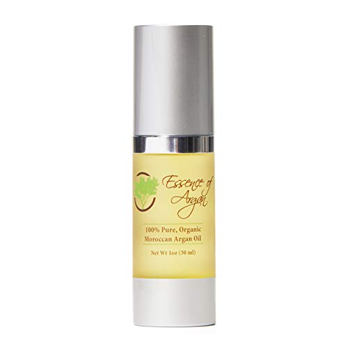 Essence of Argan 100% Pure Moroccan Organic Argan Oil - Natural EcoCert Oil that Nourishes, Conditions, and Heals Your Skin, Hair and Nails (30ml/1oz) (1 oz (30 ml))