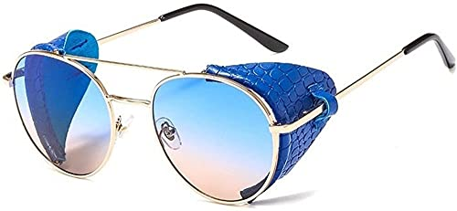 Gafas de sol doble puente negro marco de cuero gafas de sol hombres s retro gafas de sol de lujo de las señoras