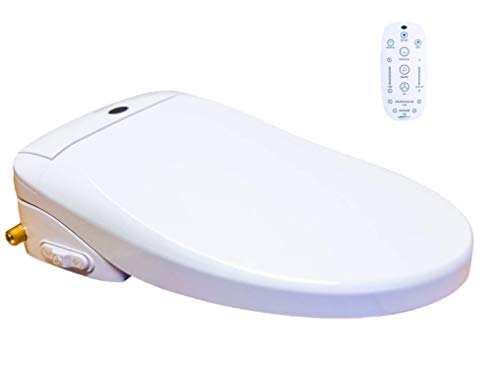 Genie Bidet Electric Heated Bidet Smart Toilet Seat | Unlimited Warm Water | Self Cleaning | Heated Seat | Elongated | Wireless Remote Control | Convenient Nightlight | Oscillating Wash | [UL listed]