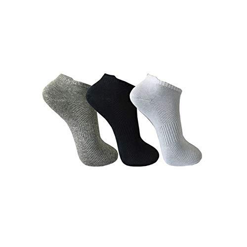 Pesail Sneaker Socken Sportsocken Kurzsocken Füßlinge Herren Damen Kurz Grau Schwarz Weiß 6/12/24/30/36 Paar Baumwolle Elastischer Pique-Komfortb& (30, 43-46)