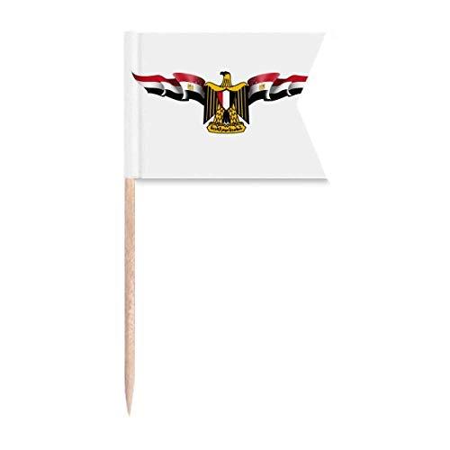 """Beauty Gift Arabisches Ã""""gypten Flagge Nationales Emblem Markierung für die Kennzeichnung von Zahnstocher-Flaggen"""