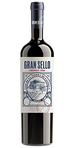 Rotwein Gran Sello Semicrianza Tempranillo Syrah 6 Flaschen Box VT La Mancha 75cl