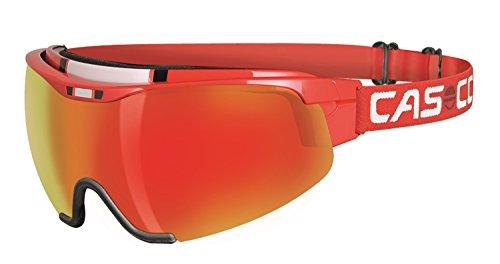 Casco Brille Nordic Spirit 2 PC carbonic rot Größe S-M incl. Hardcase und Wechselscheiben