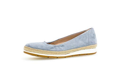 Gabor Shoes Damen Comfort Sport Geschlossene Ballerinas, Blau (Aquamarin (Jute) 39), EU