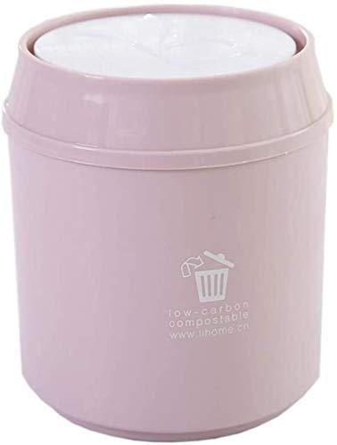 Afvalbakken afvalbakken for opbergbakken prullenbak Oud papier manden (Kleur: Grijs Maat: 5,51 * 6.69inchs) Maat: 5,51 * 6.69inchs, Kleur: Khaki (Color : Pink)
