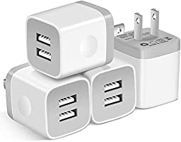 USB Wall Charger, X-EDITION 10.5W/2.1A Universal 2-Port USB Wall Plug Power Adapter for Phone X, 8/8 Plus 7/7 Plus, 6/6...