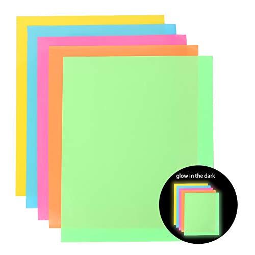Heat Transfer Vinyl Wärmeübertragung Vinyl Textilfolien Transfer-Papier Textilfolien Transferpapier Transferfolie für DIY T-Shirt, Buchstaben, Aufkleber, Schilder (Fluoreszierende Farbe)