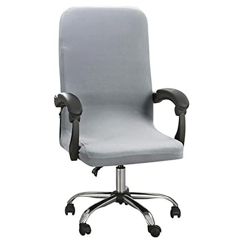 M / L Funda para silla de juego Estiramiento giratorio Oficina Asiento de escritorio para computadora Hogar Fundas elásticas impermeables para sillas Fundas extraíbles Fundas-Gris claro, L