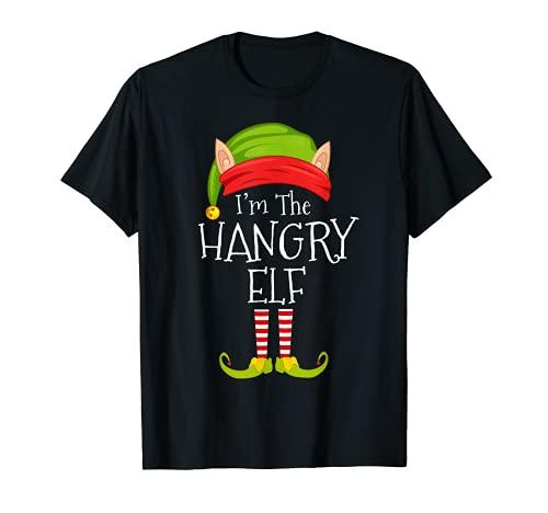 Disfraz familiar de Navidad con hambre, soy el elfo Hangry Camiseta