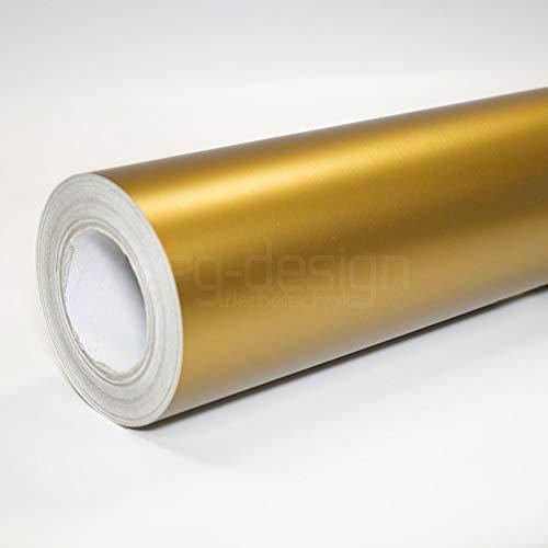 o7g-design Klebefolie | Möbelfolie | Dekofolie | Selbstklebefolie | Plotterfolie MATT & GLÄNZEND | 1m x 0,61m breite (4,92€/m²) (Gold Matt)