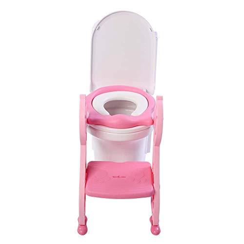 Adaptador WC para Niños con Escalera Plegable, Aseo Escalera de Inodoros Silla...