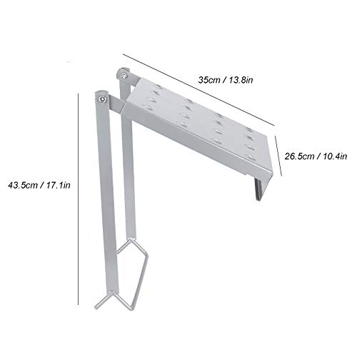 Ladder Platform Stand, Heavy Duty Movable Anti‑Slip Ladders Working Platform Stand Safe Ladder Stabilizer Accessory Building Supplies 330.7lb Weight Rting