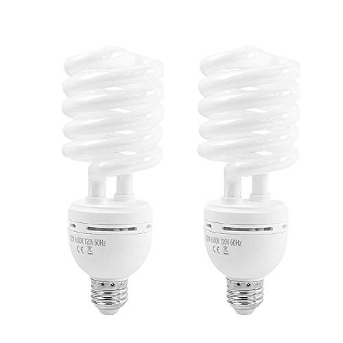 Foto&Tech Photography Daylight Bulb 42W 6500K 120V White Spiral Fluorescent...