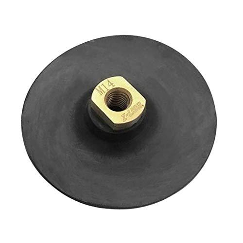 oshhni Sujetador de con Almohadilla de Goma Suave para Pulir Soporte Trasero de Goma M14 de 5 Pulgadas