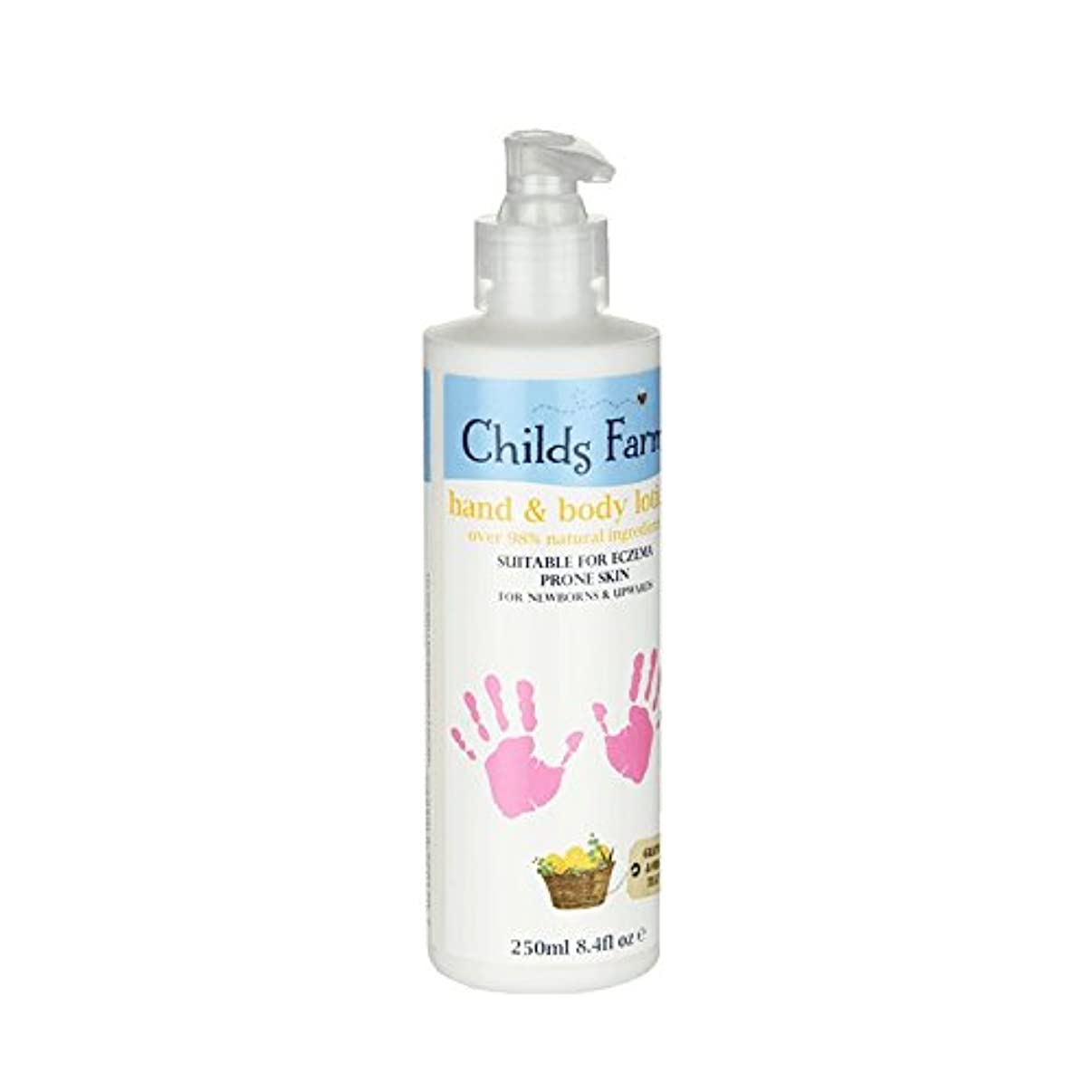 オン顔料正規化絹のような肌の250ミリリットルのためのチャイルズファームハンド&ボディローション - Childs Farm Hand & Body Lotion for Silky Skin 250ml (Childs Farm) [並行輸入品]